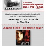 PLAKAT_Sophie Scholl-die letzten Tage_FILM_20.10.2016